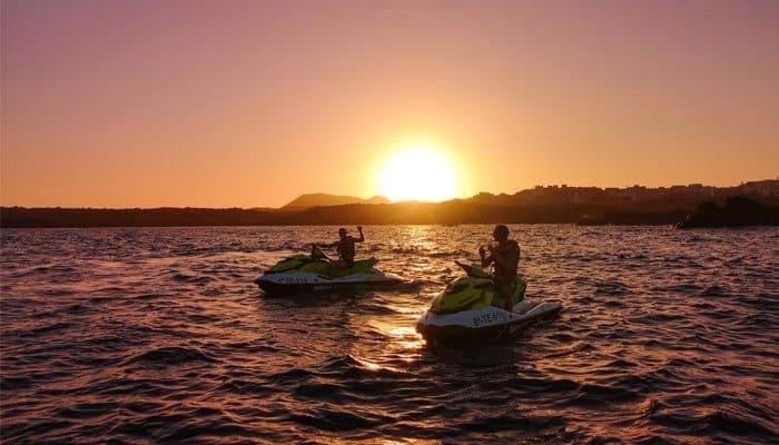zonsondergang Tenerife maart
