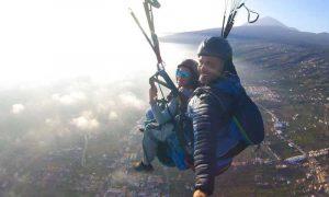 paragliding in tenerife above costa adeje