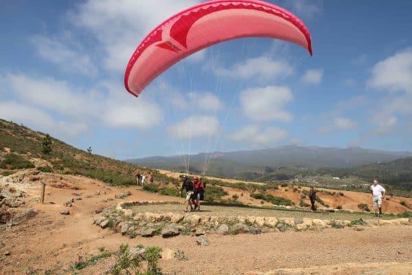 Tenerife paragliding take off near Adeje