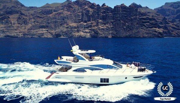 Luxury yacht for rent in Tenerife