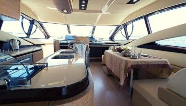 Inside of the Tigresa yacht