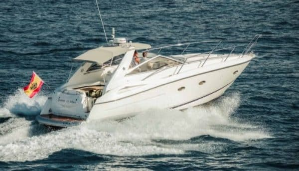 Sunseeker boat that you can hire via Club Canary for a private boat trip in Tenerife suitable for groups up to 7 people