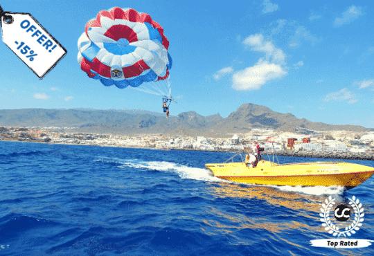 Parascending trip in Tenerife